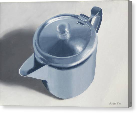 Tea Canvas Print - Teapot Still Life Oil Painting by Mark Webster