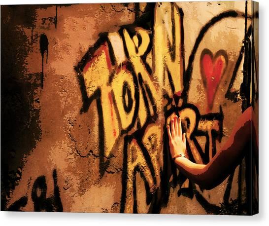 Tear This Wall Down Canvas Print