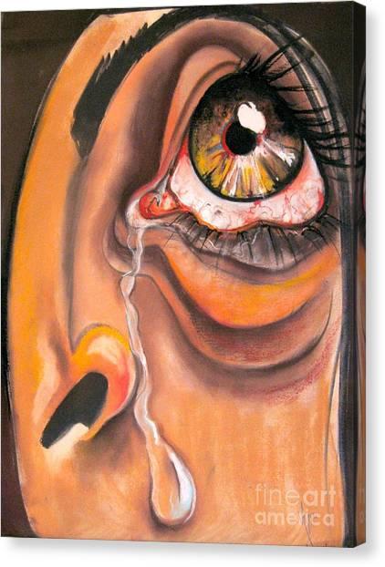 Tear Canvas Print