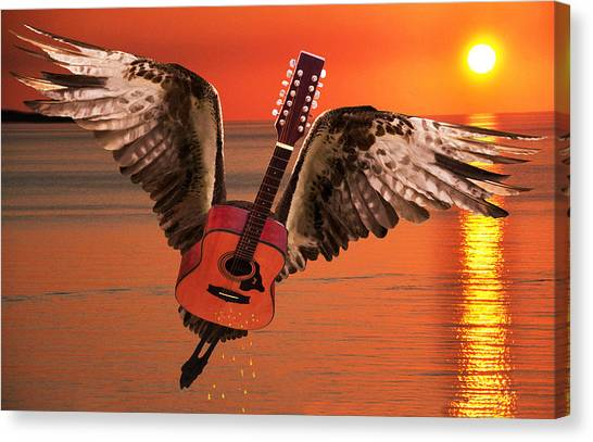 Teardrops On My Guitar Rocks Canvas Print