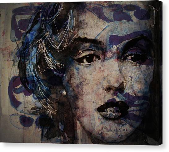 Hollywood Canvas Print - Tears Are How My Eye's Speak When  My Lips Can't Describe How Much I Have Been Hurt by Paul Lovering