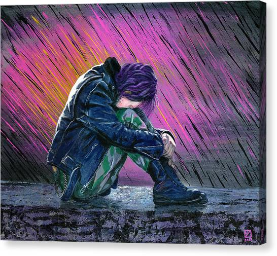 Tears In The Rain Canvas Print