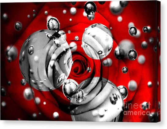 Red Roses Canvas Print - Tears Of Passion by Az Jackson