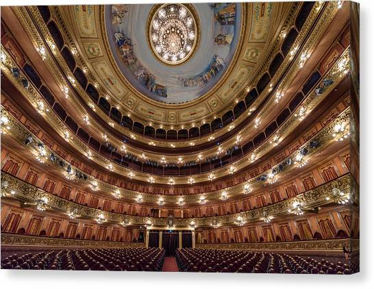 Teatro Colon Performers View Canvas Print