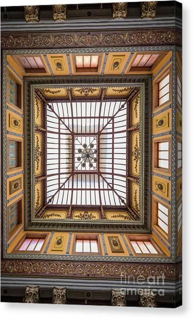 Guanajuato Canvas Print - Teatro Juarez Skylight by Inge Johnsson
