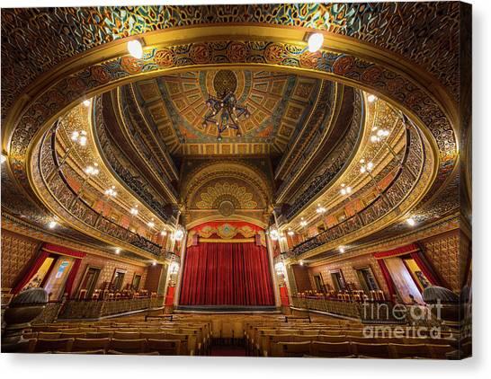 Guanajuato Canvas Print - Teatro Juarez Stage by Inge Johnsson