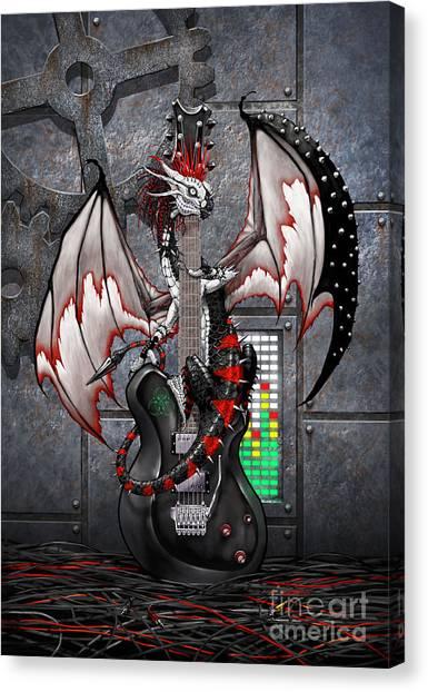 Tech-n-dustrial Music Dragon Canvas Print