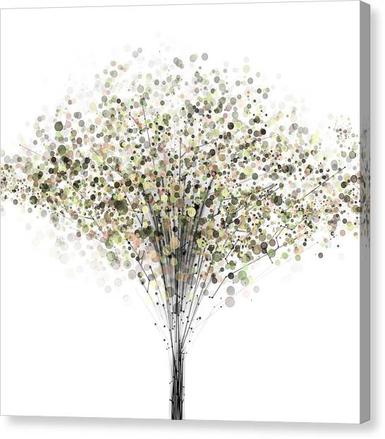Tree Canvas Print - technology Abstract by Setsiri Silapasuwanchai