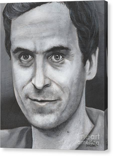 Ted Bundy Canvas Print - Ted Bundy by Michael Parsons
