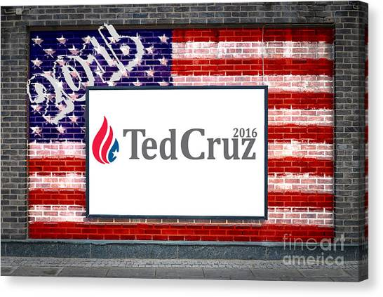 Ted Cruz Canvas Print - Ted Cruz For President by Antony McAulay
