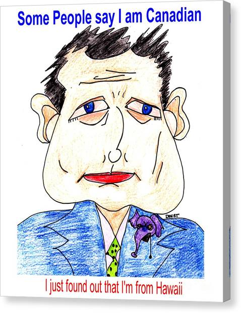 Ted Cruz Canvas Print - Ted Cruz  by James and Donna Daugherty