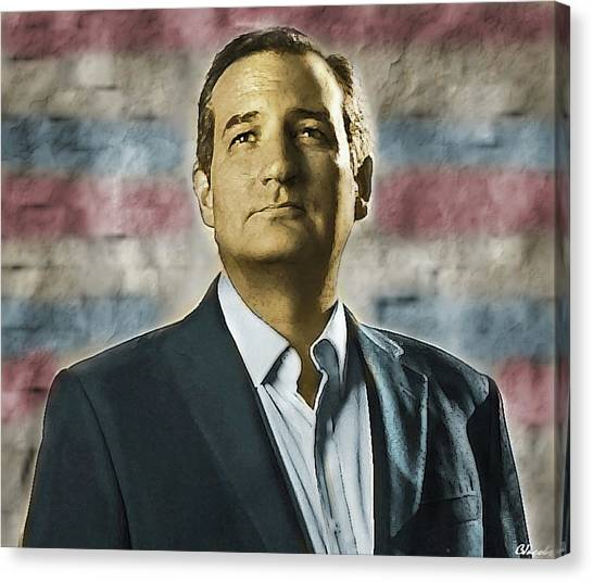 Ted Cruz Canvas Print - Ted Cruz - Senator Of Texas And Conservative Patriot by Carole Jacobs