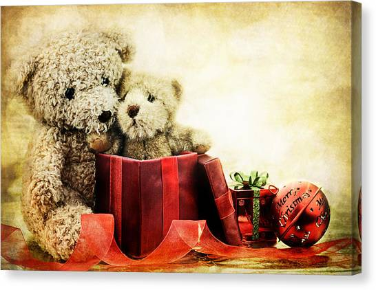 Teddy Bear Christmas Canvas Print