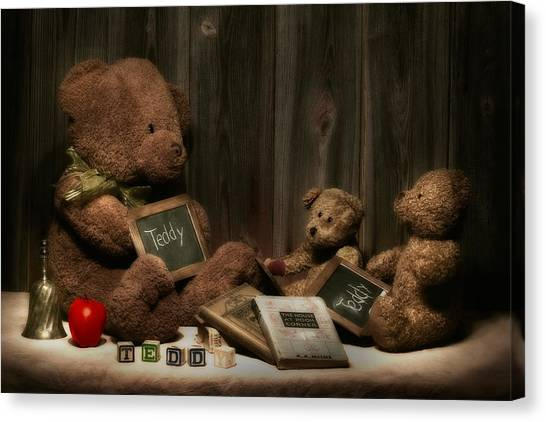 Teachers Canvas Print - Teddy Bear School by Tom Mc Nemar