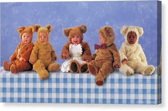 Teddy Bears Canvas Print - Teddy Bears Picnic by Anne Geddes