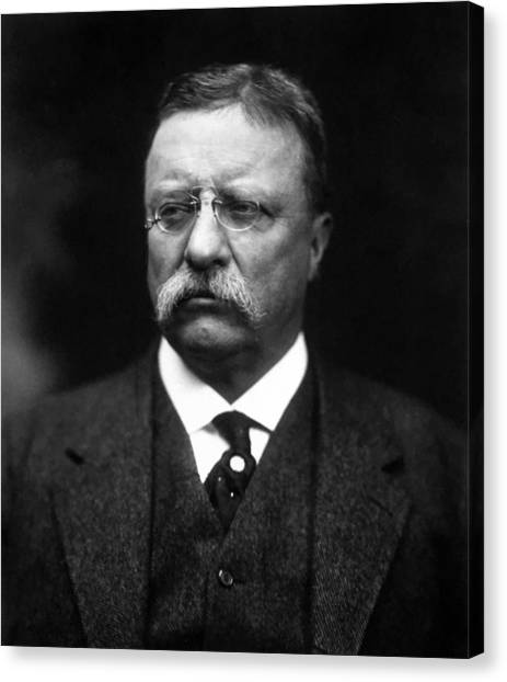 President Canvas Print - Teddy Roosevelt by War Is Hell Store