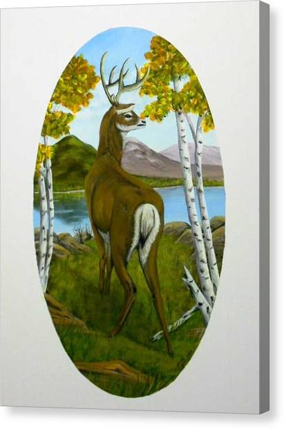 Teddy's Deer Canvas Print