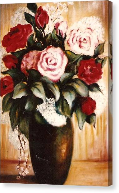Ted's Flowers Canvas Print