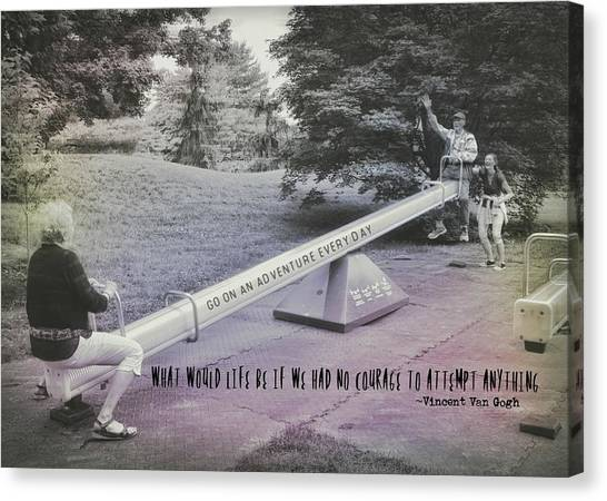 Teeter Totter Quote Canvas Print by JAMART Photography