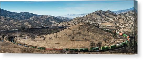 Freight Trains Canvas Print - Tehachapi Loop by Joseph Smith