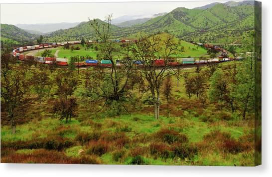 Tehachapi Train Loop Canvas Print