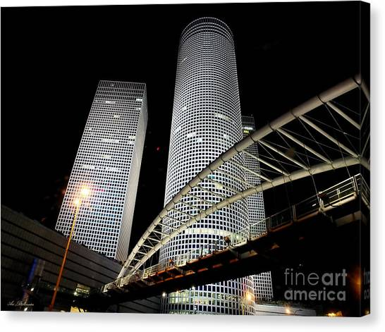 Tel Aviv Azrieli Towers Canvas Print