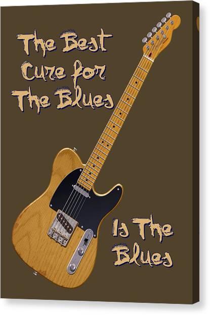 Tele Blues Cure Canvas Print