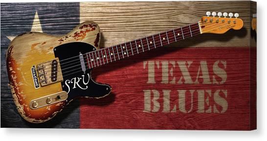 Tele Texas Blues Canvas Print