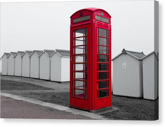 Telephone Box By The Sea I Canvas Print