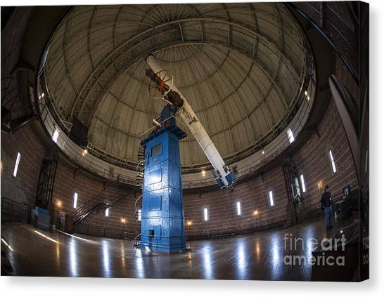 University Of Wisconsin - Madison Canvas Print - Telescope At Yerkes by David Bearden
