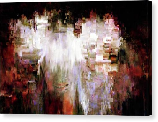 Pixelated Canvas Print - Tell Me Something by Michelle Calkins