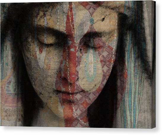 Statue Portrait Canvas Print - Tell Me There's A Heaven by Paul Lovering
