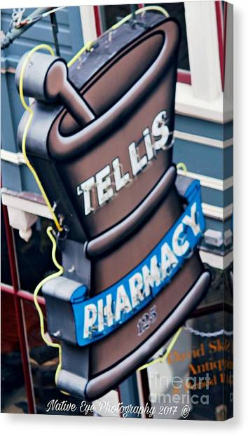 Canvas Print - Tellis Pharmacy/ King Street by Lisa Marie Towne