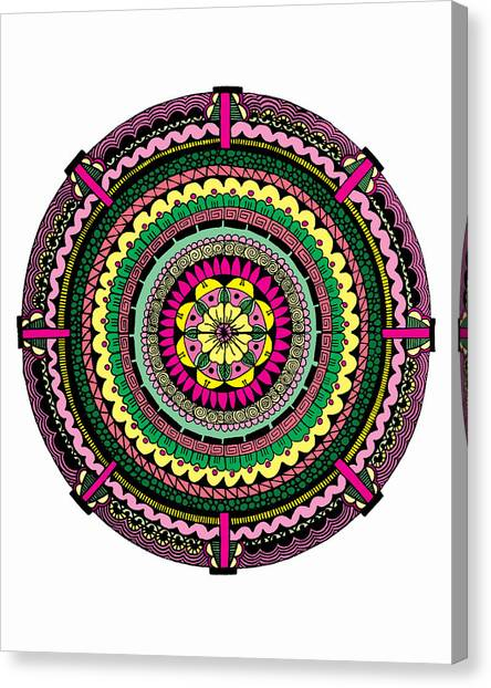 Mandala Canvas Print - Temblor by Elizabeth Davis