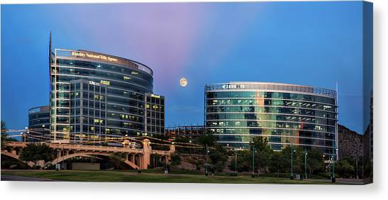 Tempe Town Lake Moon Rise Canvas Print