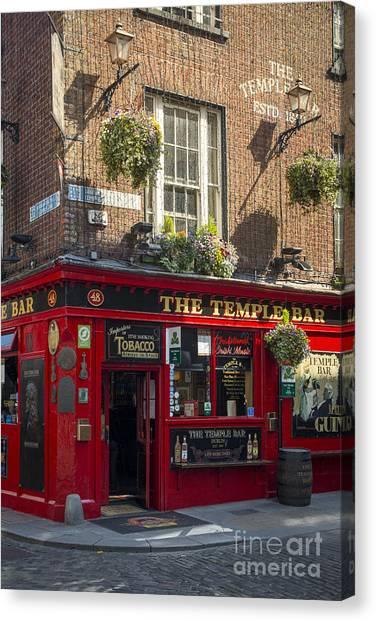 St. Patricks Day Canvas Print - Temple Bar - Dublin Ireland by Brian Jannsen