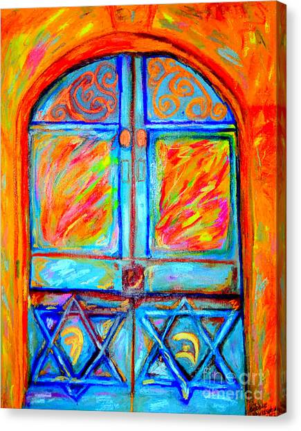Matting Canvas Print - Temple Door by Debbie Davidsohn