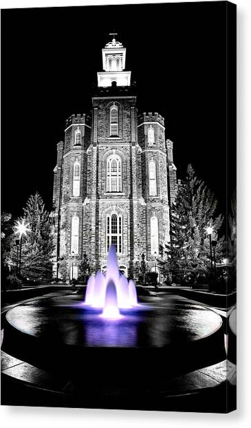 Temple Fountain  Canvas Print