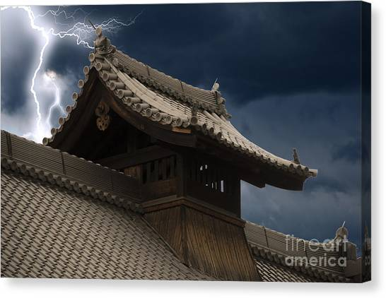 Temple In The Sky Canvas Print