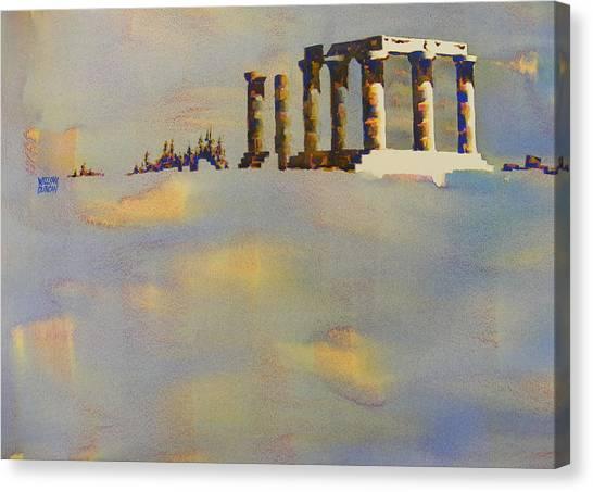 Temple Of Apollo Corinth Greece Canvas Print