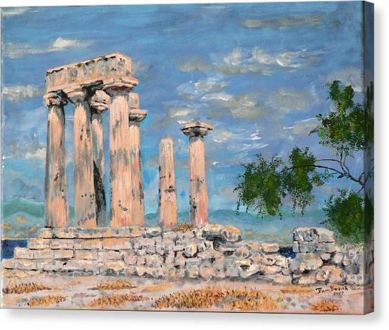 Temple Of Apollo  Canvas Print by Dan Bozich