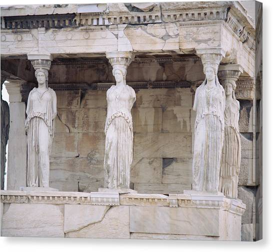 Greece Canvas Print - Temple Of Athena Nike Erectheum by Panoramic Images