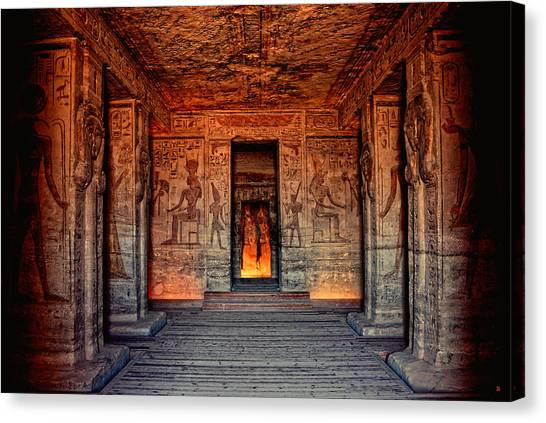 Temple Of Hathor And Nefertari Abu Simbel Canvas Print