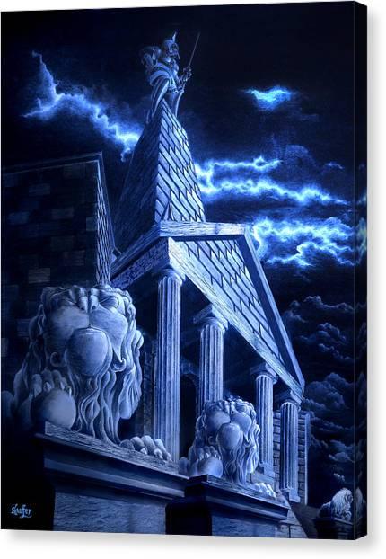 Temple Of Hercules In Kassel Canvas Print