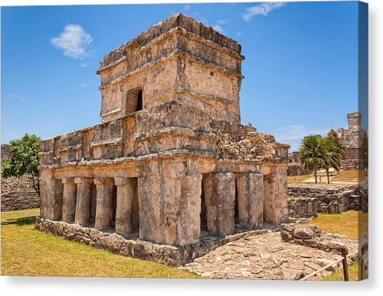 Temple Of The Frescos Canvas Print