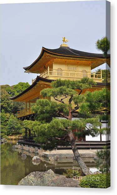 Temple Of The Golden Pavilion Canvas Print