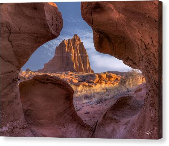 Capitol Reef Canvas Print - Temple Of The Sun by Leland D Howard