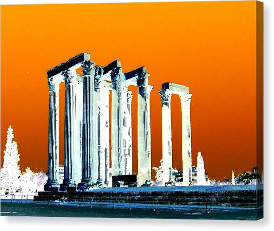 Temple Of Zeus Canvas Print