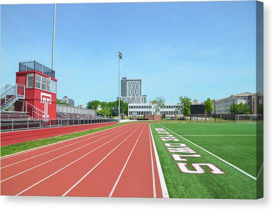 Temple University Canvas Print - Temple Owls - Dan And Shelley Boyce Track by Bill Cannon