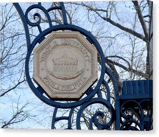 Temple University Canvas Print - Temple - Seal  by Richard Reeve